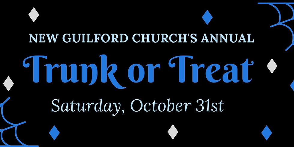 Trunk or Treat, Saturday, October 31st 6 to 8 PM