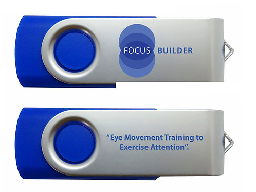 Eye Movement Training to Exercise Attention (USB Flash Drive)