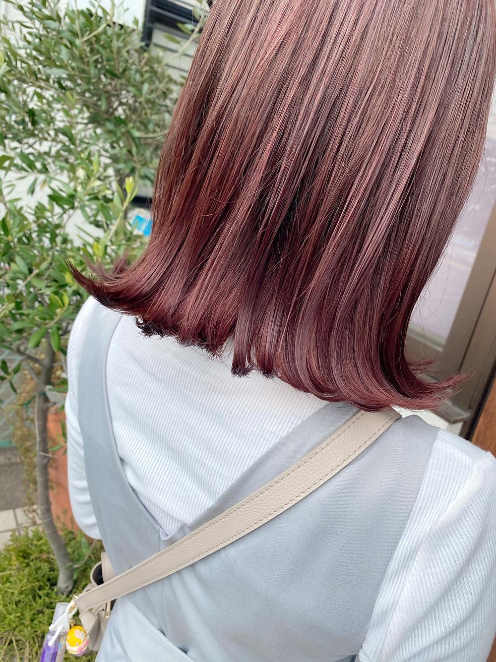カラー ヘアスタイル ピンク ラベンダー