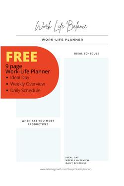 Work Life Printable