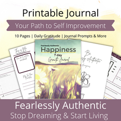 free printable journal fearlessly authentic