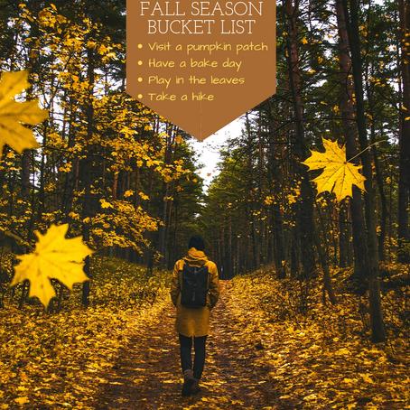 Fall Seasonal Bucket List