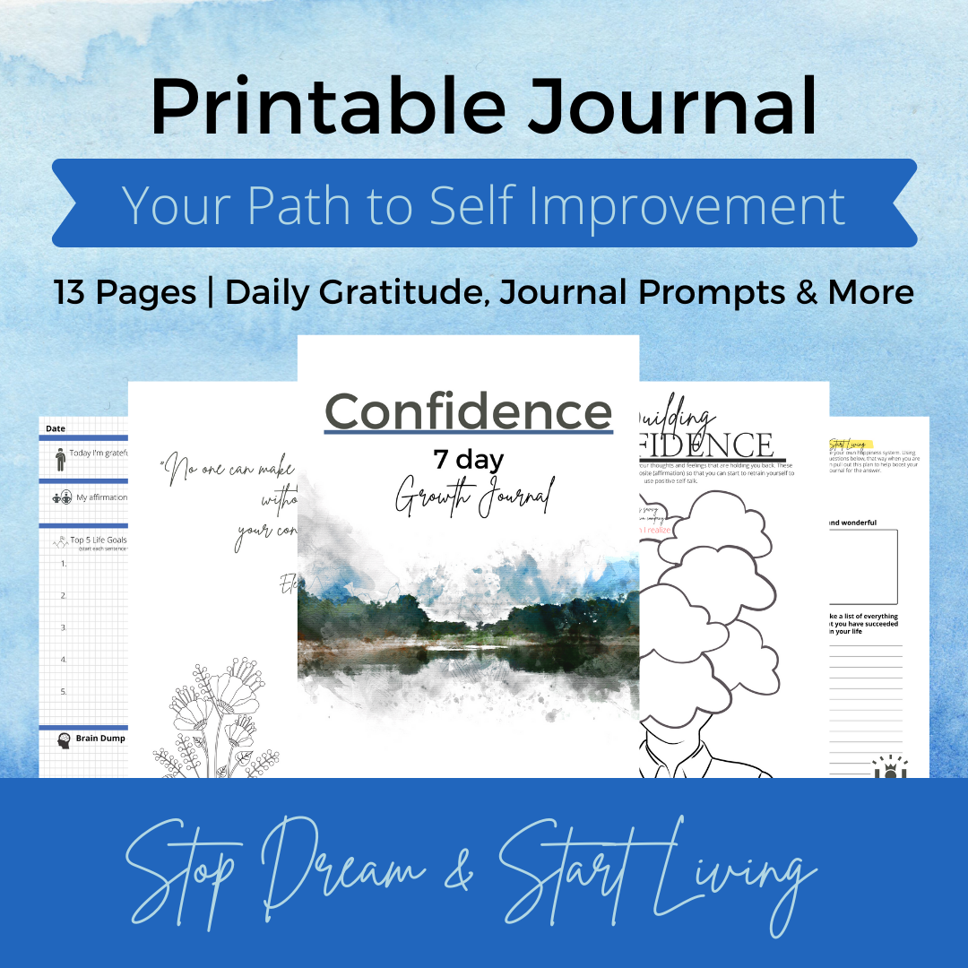 Free Printable | Journal | confidence
