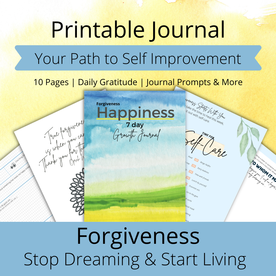 free printable  journal forgiviness