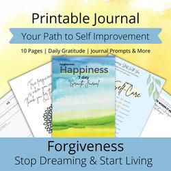 free printable  journal forgiviness