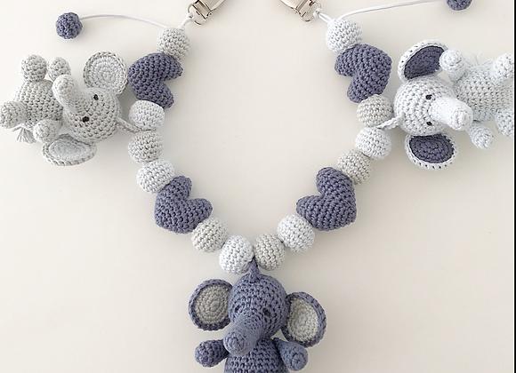 Barnevognskæde med Babyelefanten Ella