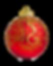Goud en Rood Ornament