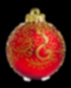 Gold und Rot Ornament