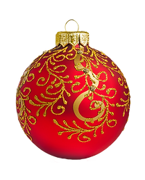 Guld og Red Ornament