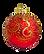 Guld- och rött prydnad