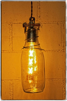Pendent Lamp: WECK 1062 with Bed Spring