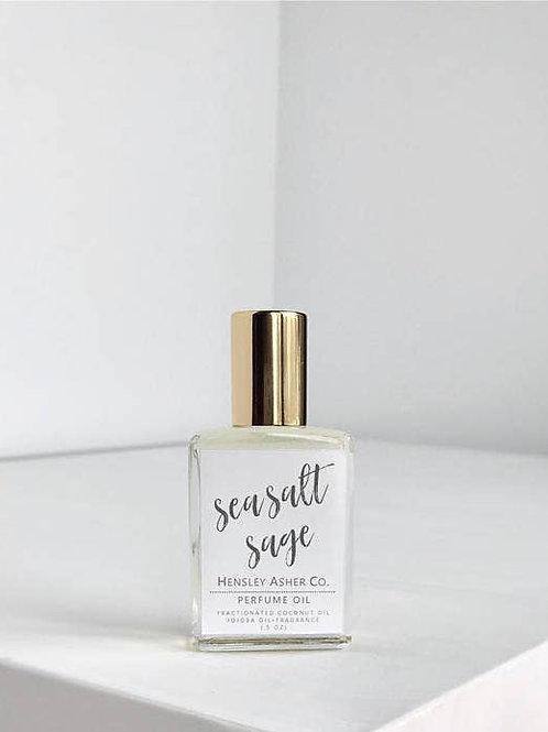 SEA SALT+SAGE Vegan Roll On Perfume Oil 0.5 oz. Hensley Asher