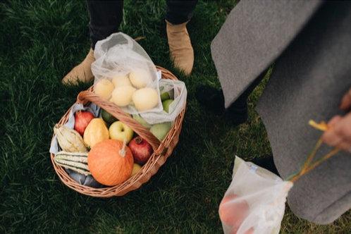 Frusack Trio Market Ready Reusable Produce Bags. Sustainable Zero-Waste Kitchen