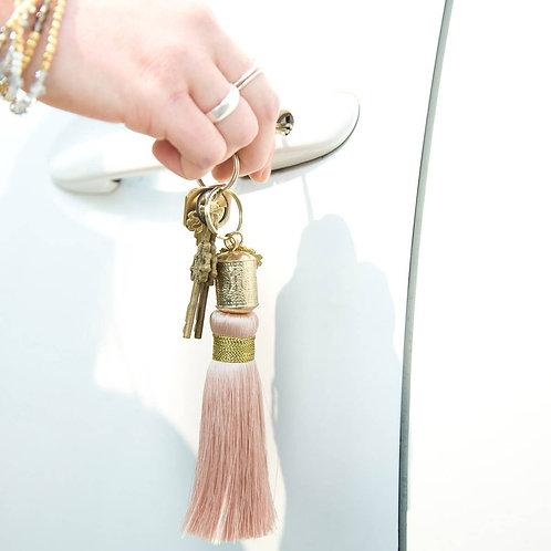 BLUSH Tassel Key Chain. Mental Alchemy Wellness