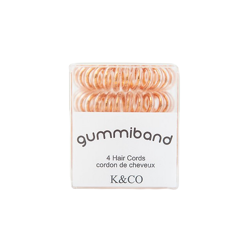 METALLIC COPPER GUMMIBAND Traceless Hair Cords Pack of 4