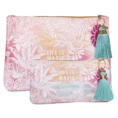 life is - M A G I C - Large Tassel Pouch. Mental Alchemy Wellness