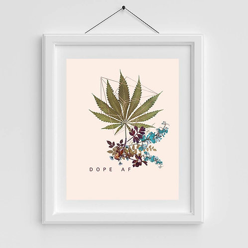 - D O P E - Copper Art Print. Cannabis Gardens