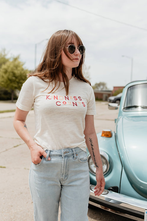 KINDNESS COUNTS Unisex Crew Tee by Polished Prints