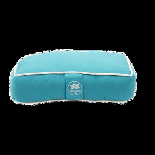 TURQUOISE Solid Cotton Travel Meditation Cushions by Katmandu Yogi
