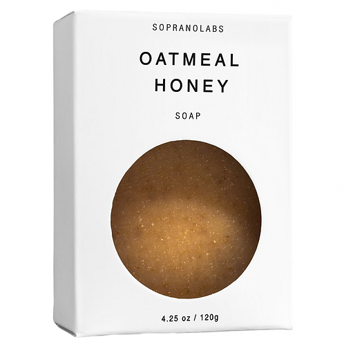 OATMEAL HONEY Organic Facial Soap 4.25 oz. by Soprano Labs