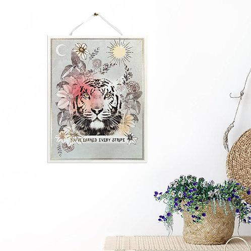knight STRIPES Art Print. Meditation Gardens & Studio