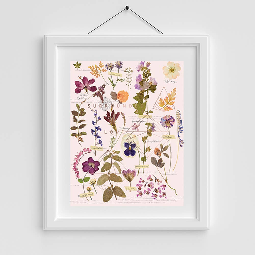 Copper Art Print- Love Garden 2