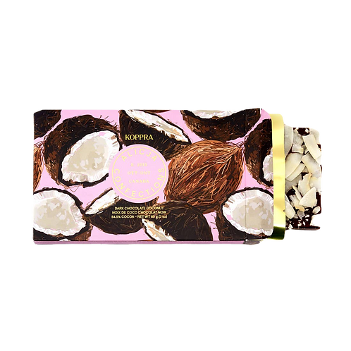 Koppra Coconut Dark Postcard Chocolate Bar 3 oz.
