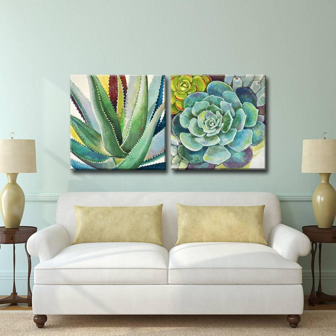'Ready2HangArt™_'Brilliant_Succulents_I: