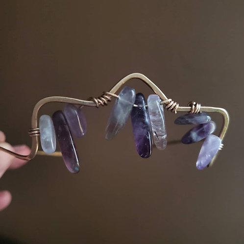 Amethyst Goddess Crown. Forged Finds With Genuine Gemstones
