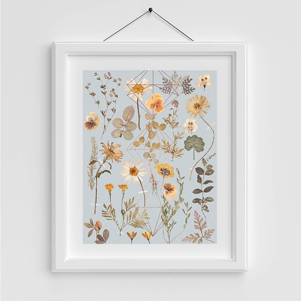Copper Art Print- Golden Garden