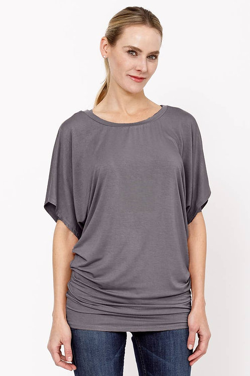 CHARCOAL BAMBOO SK SIGNATURE TUNIC by Studio Ko.