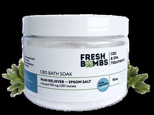 PAIN RELIEF: CBD Bath Salt & Soak 10 oz.