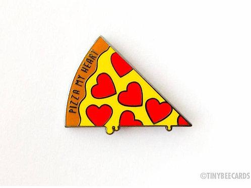 PIZZA MY HEART: Enamel Pin by TINY BEE CARDS
