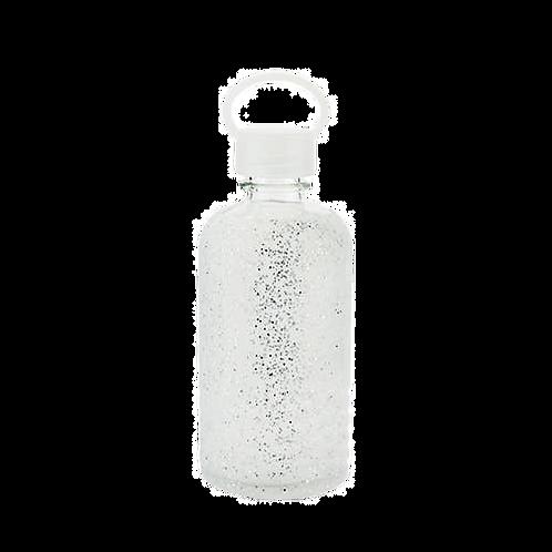 Glitterati Silver Glitter Silicone Water Bottle