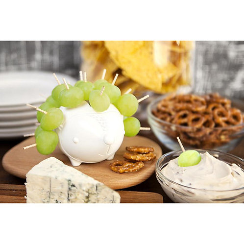 Ceramic Toothpick Holder + Food Serving Woodland Critter