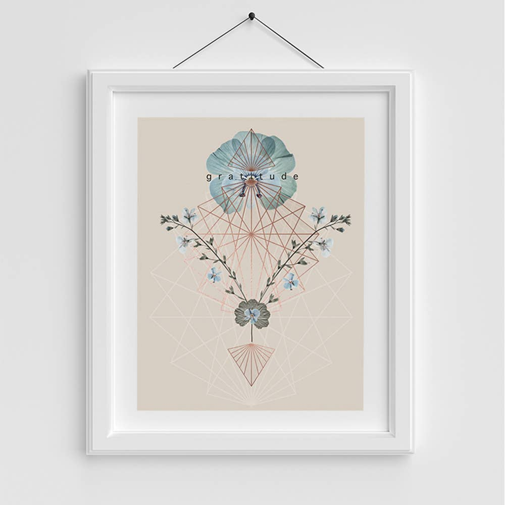 Copper Art Print - Gratitude
