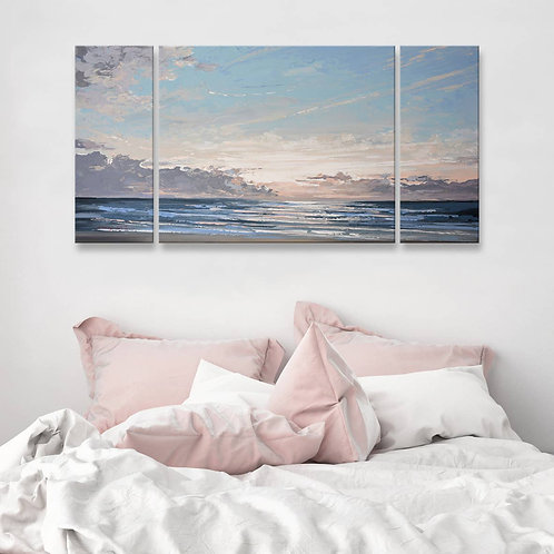 'Into the Mystic' 3-Pc Wrapped Canvas Coastal Wall Art Set