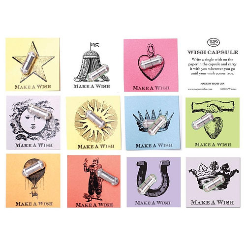 Wish Capsules Vintage Letterpress Mental Alchemy Wellness