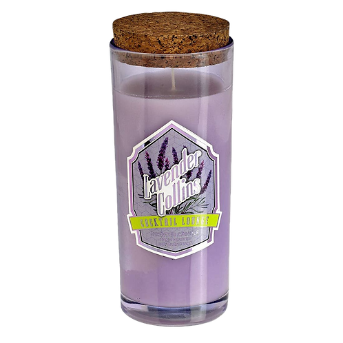 LAVENDER COLLINS Cocktail Lounge Highball Candle. Speakeasy Fragrance