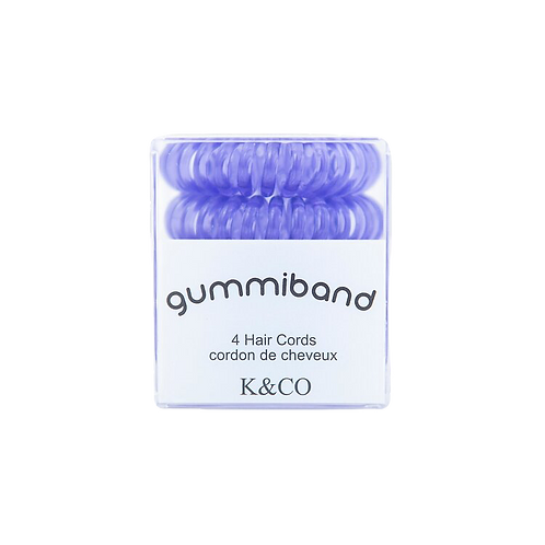 LAVENDER TWIST GUMMIBAND Traceless Hair Cords Pack of 4