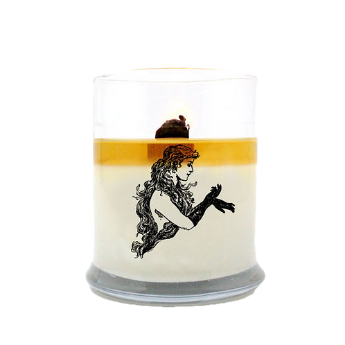 GREEN FAIRY Soy Wax EcoCandle. Romantic Star Anise Aromatherapy Candle​​​​​​​