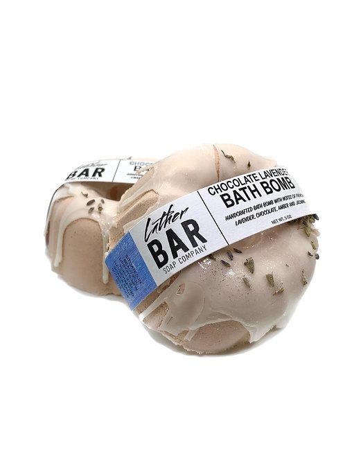 BATH BOMB DONUT: CHOCOLATE LAVENDER 0.5 oz. by Lather Bar Soap Co.