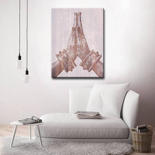 'Namaste' Inspirational Canvas Art by Olivia Rose