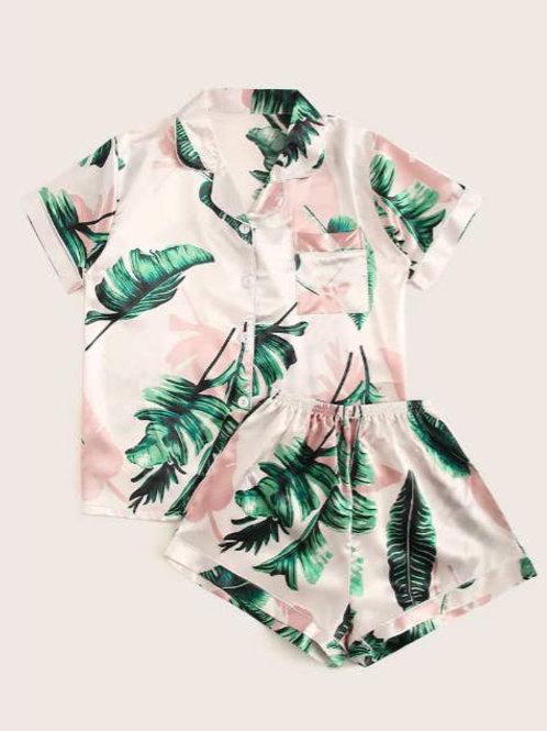 Banana Leaf Babe PJ Set - Top & Bottoms - FLUFF LOS ANGELES