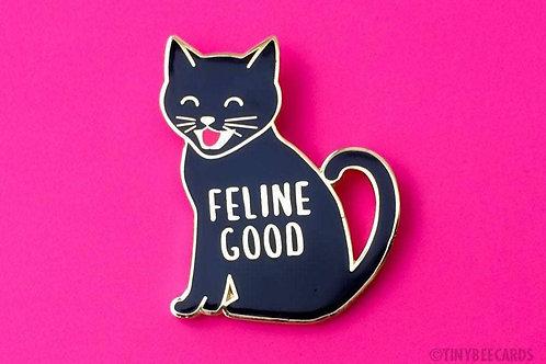 FELINE GOOD: Enamel Pin by TINY BEE CARDS