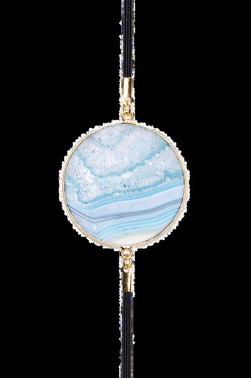 BLUE LACE AGATE OPULENCE Geode Book Mark