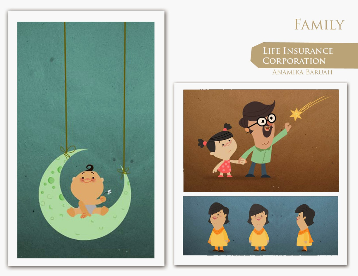 Family design 02 for Insurance Ad Pitch