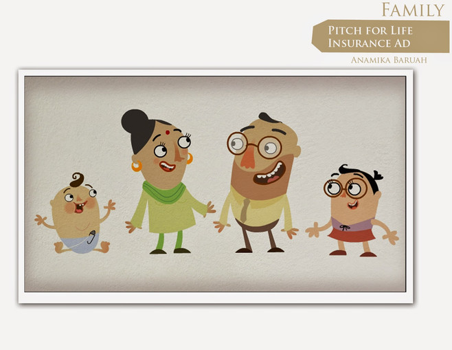 Family design 01  for Insurance Ad Pitch