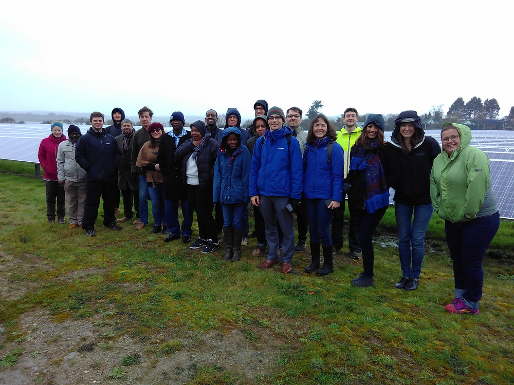 Workshop participants at the Ernesettle community-owned solar farm.