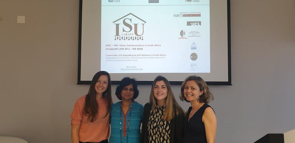 The core of ISULabaNtu team. From the left: Dr Iwona Bisaga, Dr Priti Parikh, Dr Maria Christina Georgiadou and Dr Claudia Loggia.